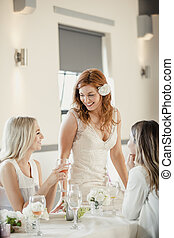 Bride Socialising with her Guests