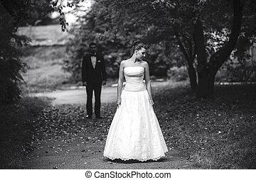 Bride waiting for her bridegroom