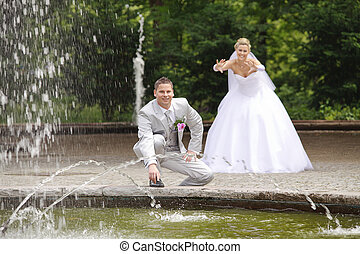 bride wants to push man