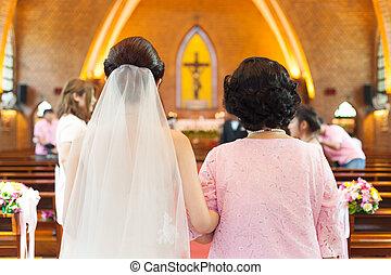 Bride wedding ceremony - Bride in wedding ceremony Wedding...