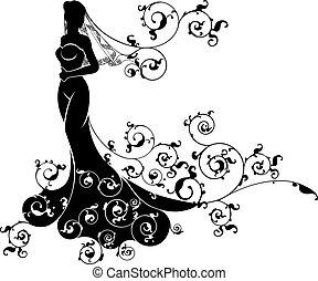 Bride Wedding Silhouette - Bride silhouette wedding design...