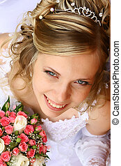 Bride with a wedding bouquet