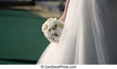 Bride with bouquet - Bride with bridal white bouquet