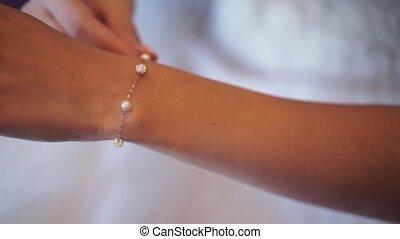 Bride with bracelet - Bride with jewelry bracelet on hand
