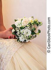 Bride with flower bouquet