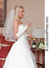 Bride with glass