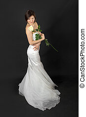 bride with rose