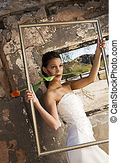 Bride with single rose