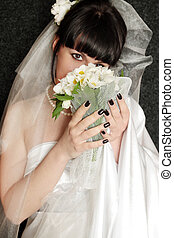 Bride with the bouquet