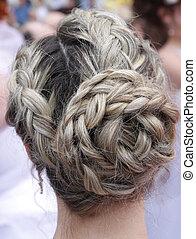 wedding coiffure - bride with wedding coiffure