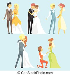 Brides And Grooms Couples