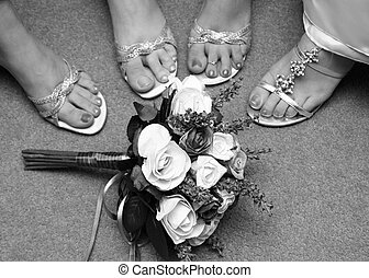 Brides and Maids Feet