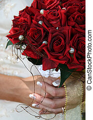 Bride\\\'s Bouquet - A bride\\\'s bouquet of red roses