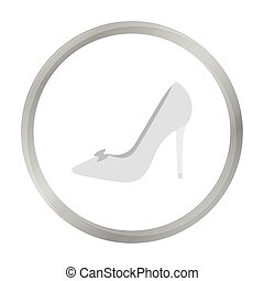 Bride's shoes icon of vector illustration for web and mobile