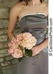 Bridesmaid Bouquet - A chic image of a bridesmaid with her...