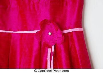 Bridesmaid dress. - Close-up of a bright pink bridesmaid...