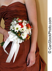 bridesmaids bouquet - A nice shot of the maid of honor\\\'s...