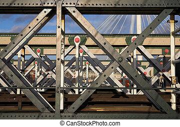 Bridge #1 - The Charring cross railway bridge girders