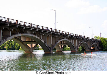 A bridge in downtown Austin.