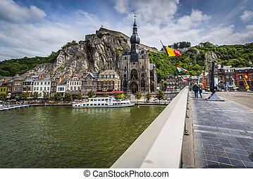 Bridge across the river Meuse in Dinant, Belgium. - DINANT, ...