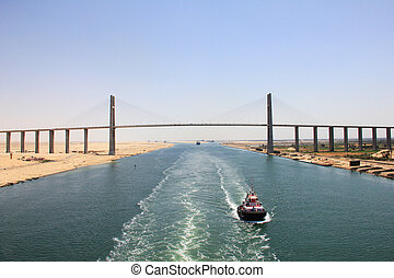Bridge across the Suez Canal - Modern bridge across the Suez...