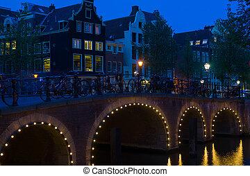 Bridge Amsterdam at night