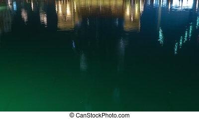 Bridge and fountains Burj Khalifa - Bridge and fountains in...