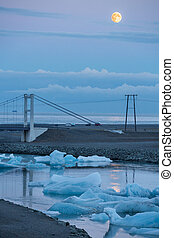 Bridge and full moon