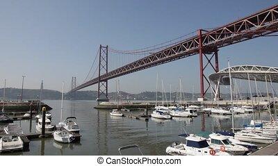Bridge and Marina in Lisbon