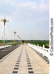 bridge and road lamp