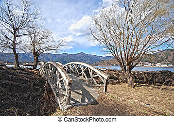 bridge and tree in the Japanese hdr