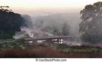 Bridge at dawn