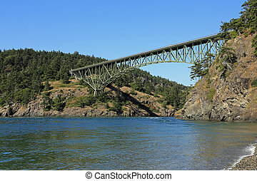 Bridge at Deception Pass - The bridge over Deception Pass on...