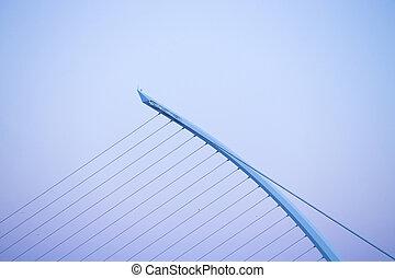Bridge at sunset. Dublin.