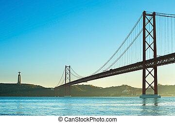Bridge at sunset, Portugal