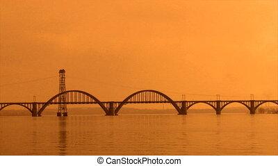 bridge at wide river