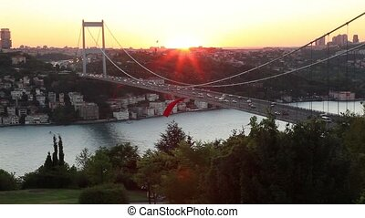 bridge - Bosphorus with Fatih Sultan Mehmet Bridge