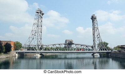 Bridge. - Bridge in downtown Welland, Ontario, Canada....