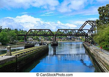 Bridge by Ballard Locks