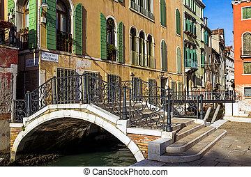 Bridge canal Venice Italy