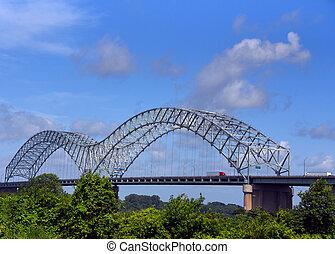Bridge Carries Interstate 40 Through Memphis