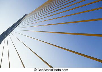 bridge., cavi di sollevamento, struttura