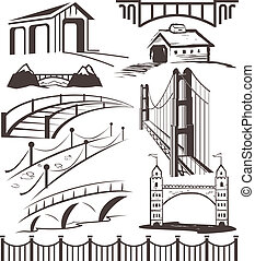 Bridge Collection - A clip art collection of various bridges