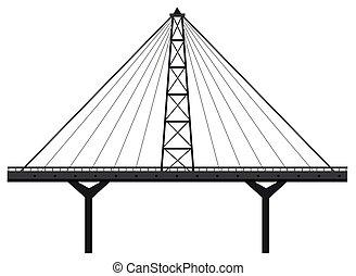 Bridge construction made of metal