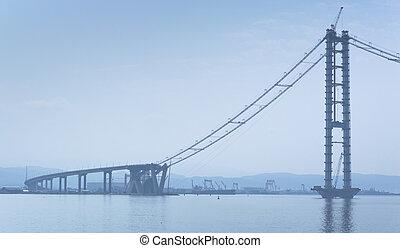 Bridge Construction on Sea