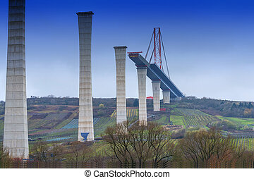 Bridge construction site, High Moselle Bridge