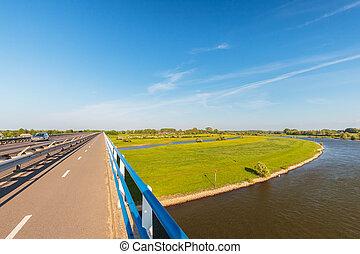 Bridge crossing the IJssel river in Zutphen, The Netherlands