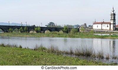 Bridge crossing the Rio Lima - Roman bridge crossing the Rio...