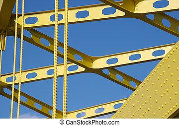 Bridge Detail - Detail of Yellow Bridge