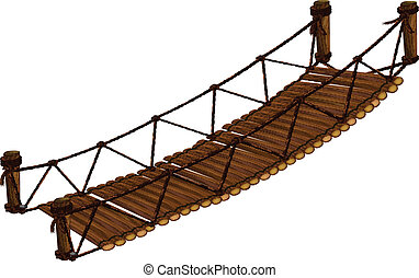 Bridge - Illustration of a close up bridge